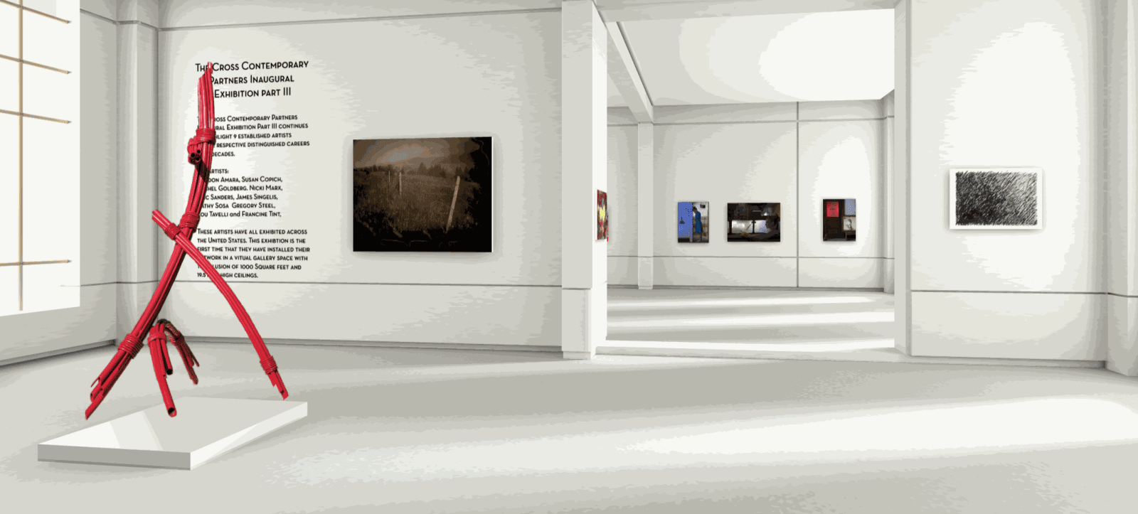 left to right: Gregory Steel, photographs by London Ameara, Susan Copich, monotype by Michel Goldberg