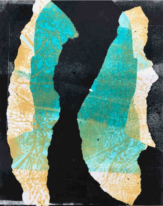 Silhouette Print No. 2 © Eric Sanders 2020 monotype on paper 10 x 8 inches
