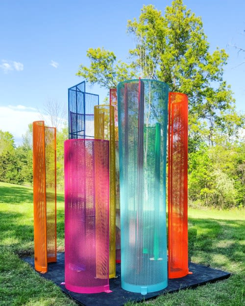 Color Field Sculpture® Installations and A-MAZE-ING® Public Art © Shelley Parriott 2021