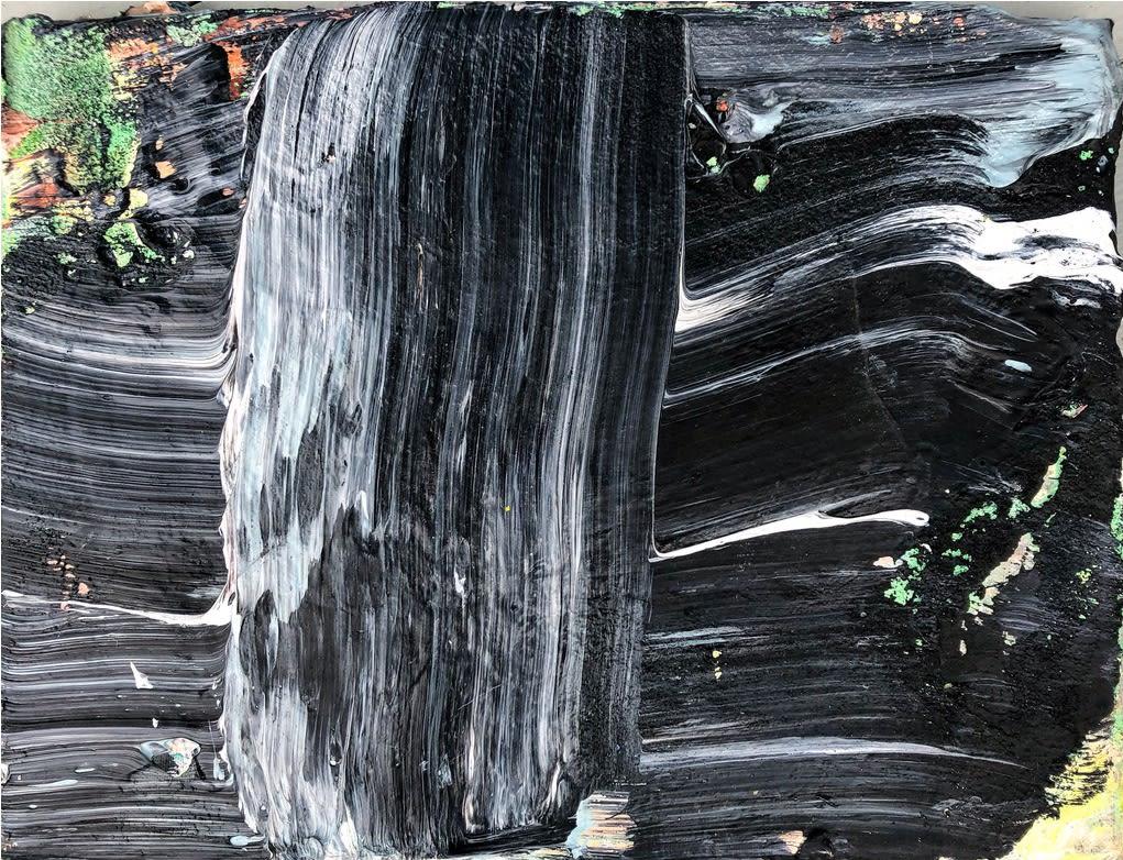 Black Luxury © Francine Tint 2021 Acrylic On Canvas 9 X 12 Inches