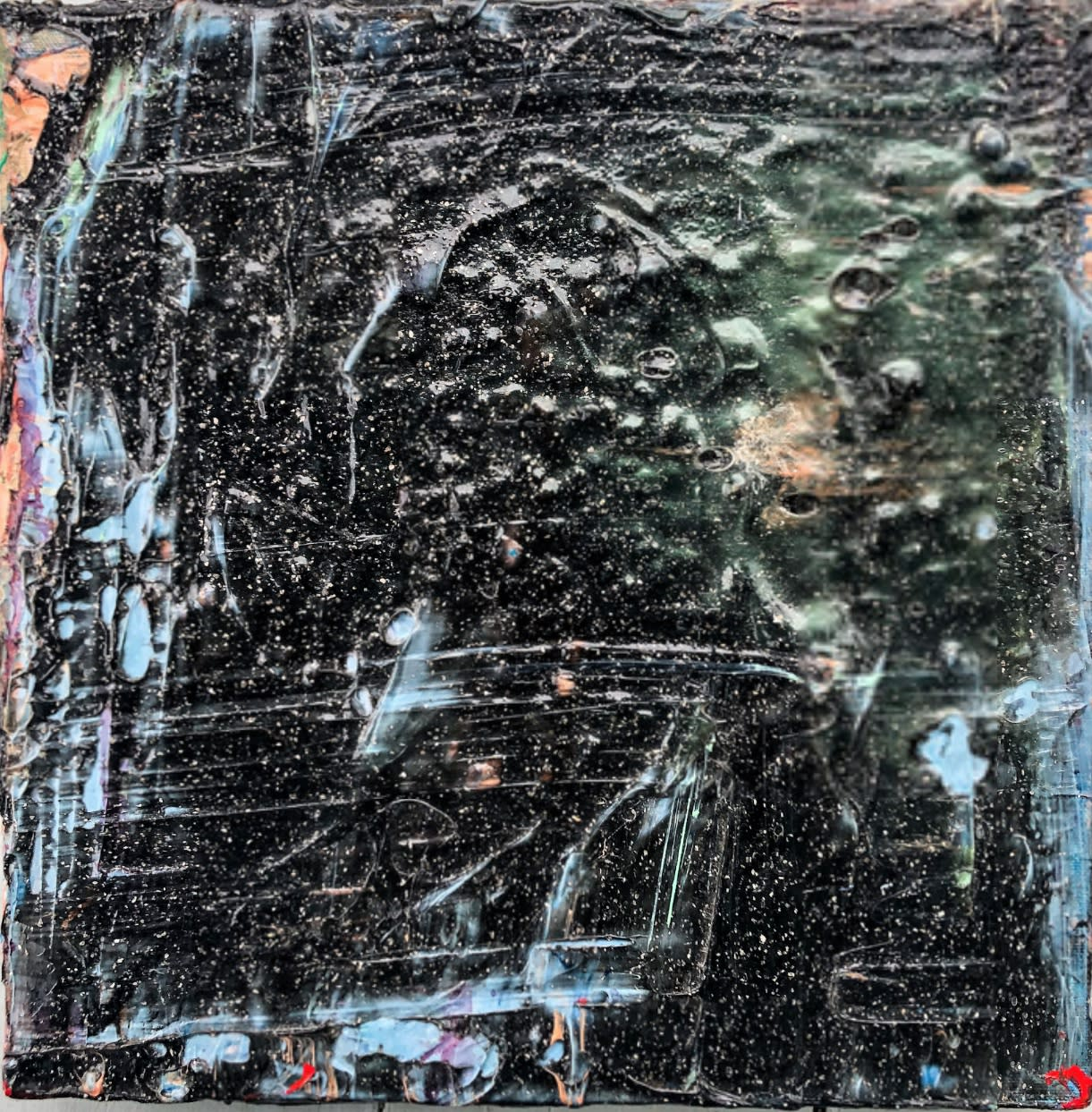 Black Swan © Francine Tint 2016 Acrylic On Canvas 12 X 12 inches