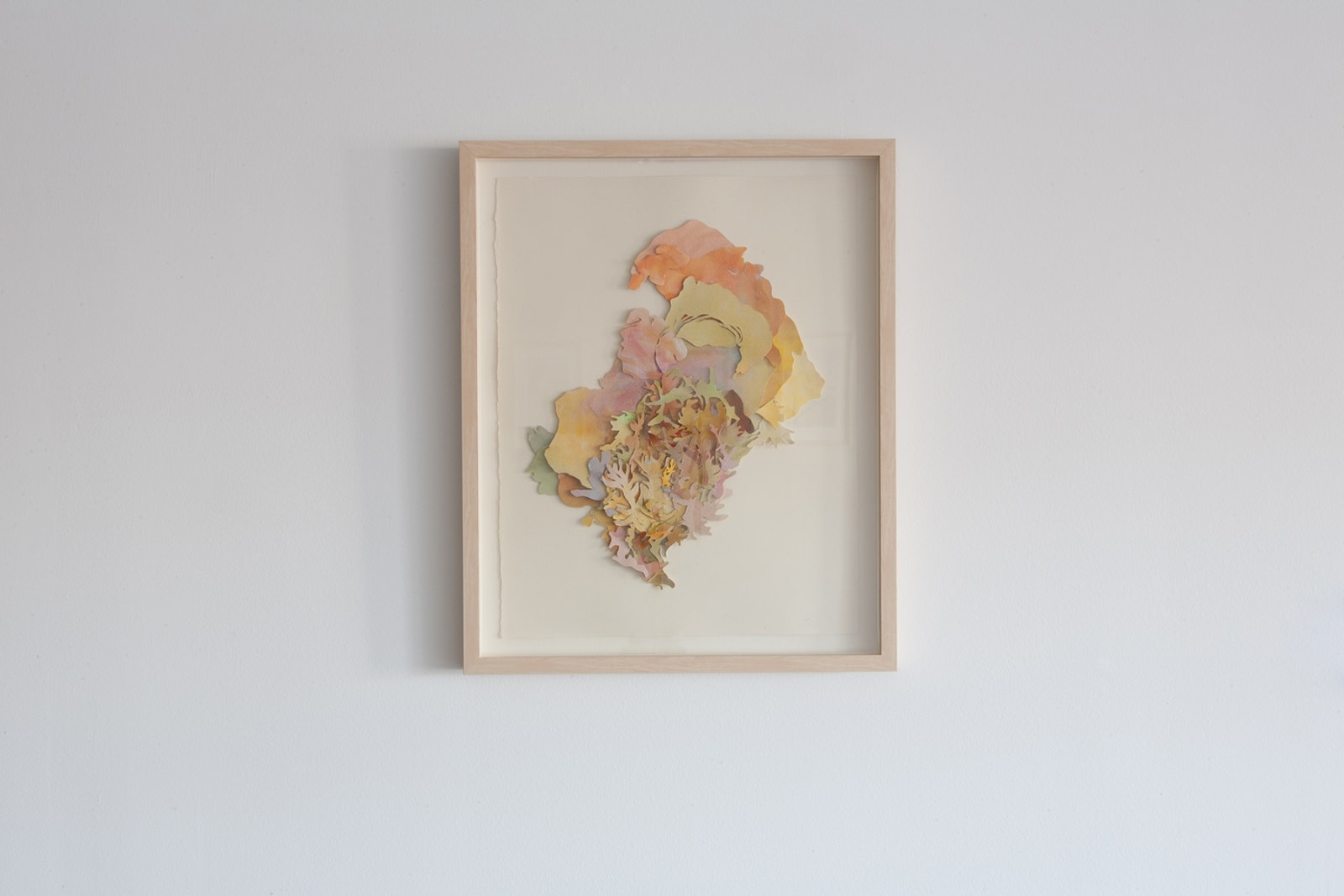 Alexandra Chiou Queen's Bouquet, 2018 acrylic, ink and cut paper 23 ½ x 18 ½ inches, framed $ 1,400.00
