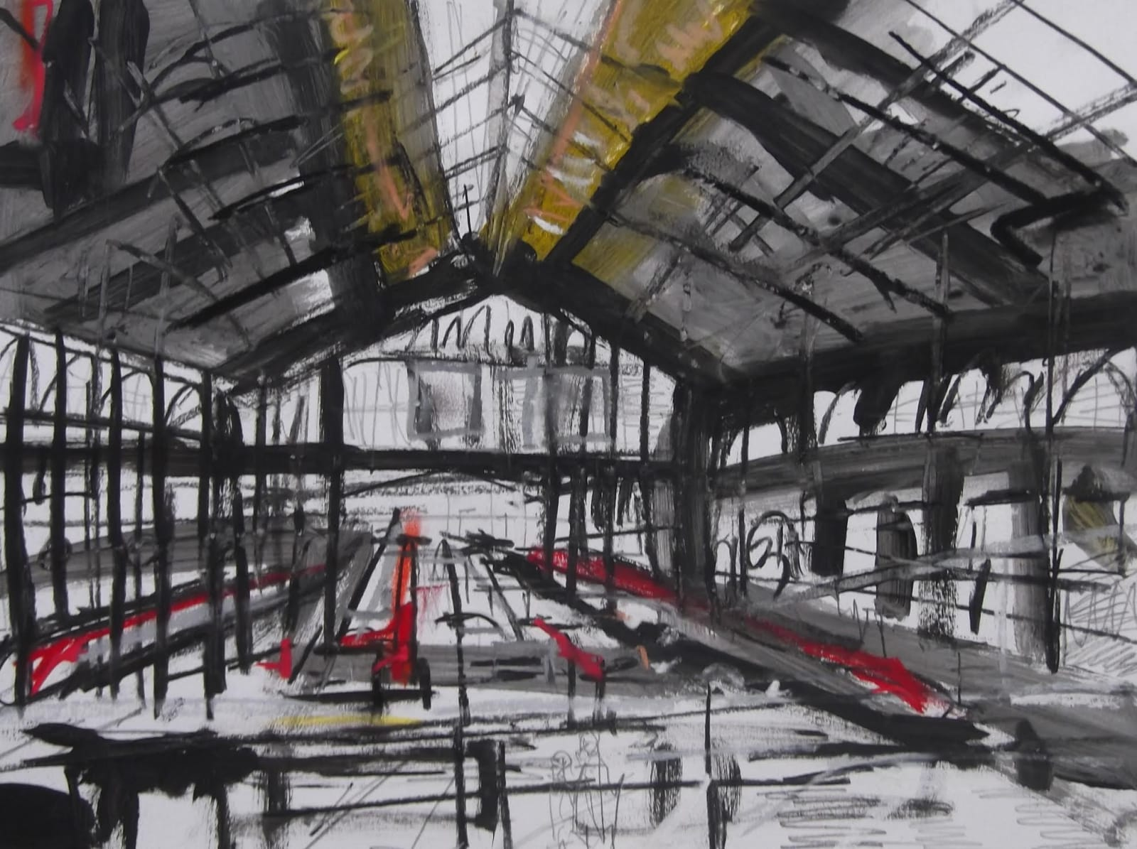 Matthew Thompson, From Balcony Gare du Nord