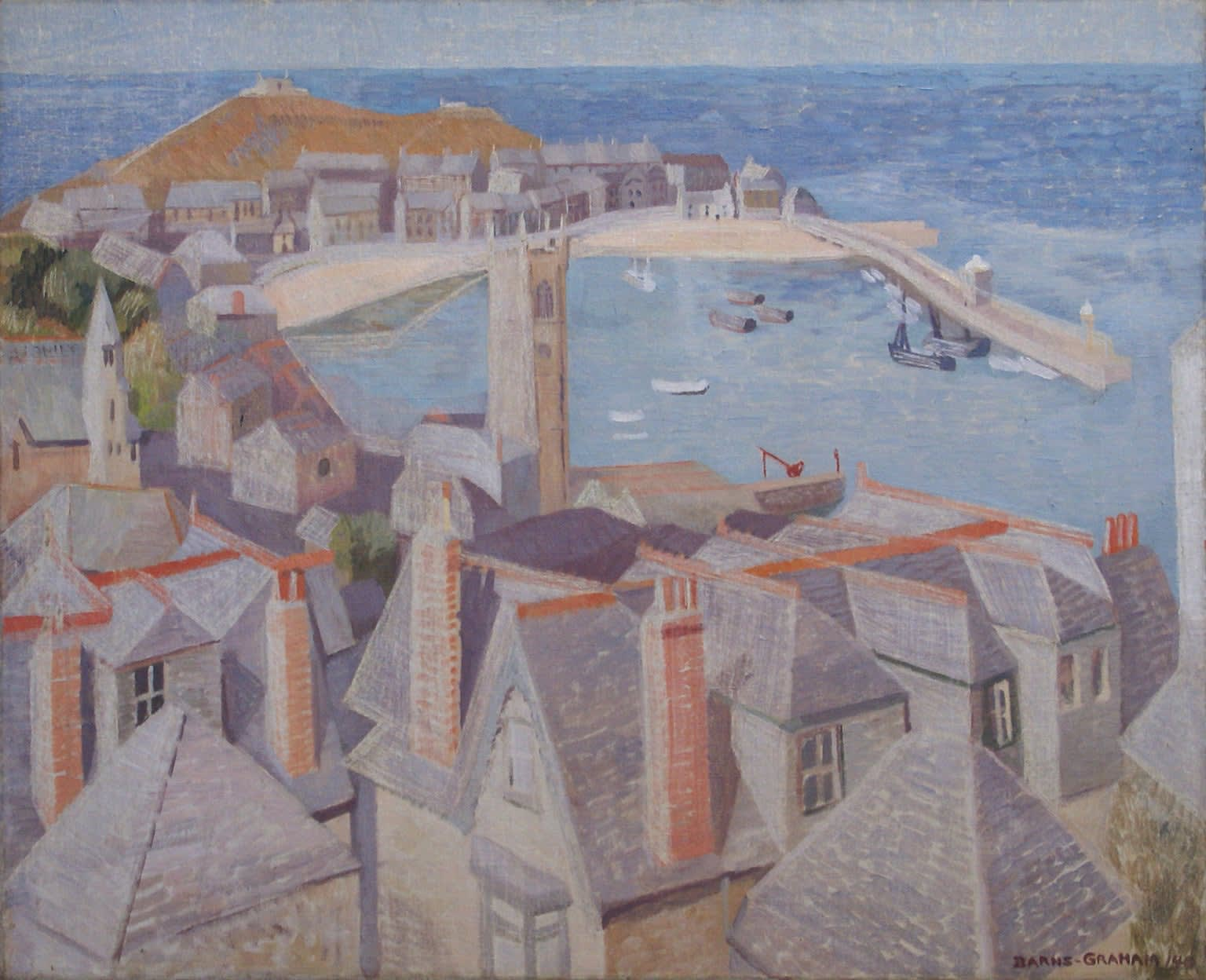 Wilhelmina BARNS-GRAHAM (1912 – 2004) View of St Ives, 1940 Oil on canvas 25 x 30 ¼ inches / 63.5 x 76.5 cm