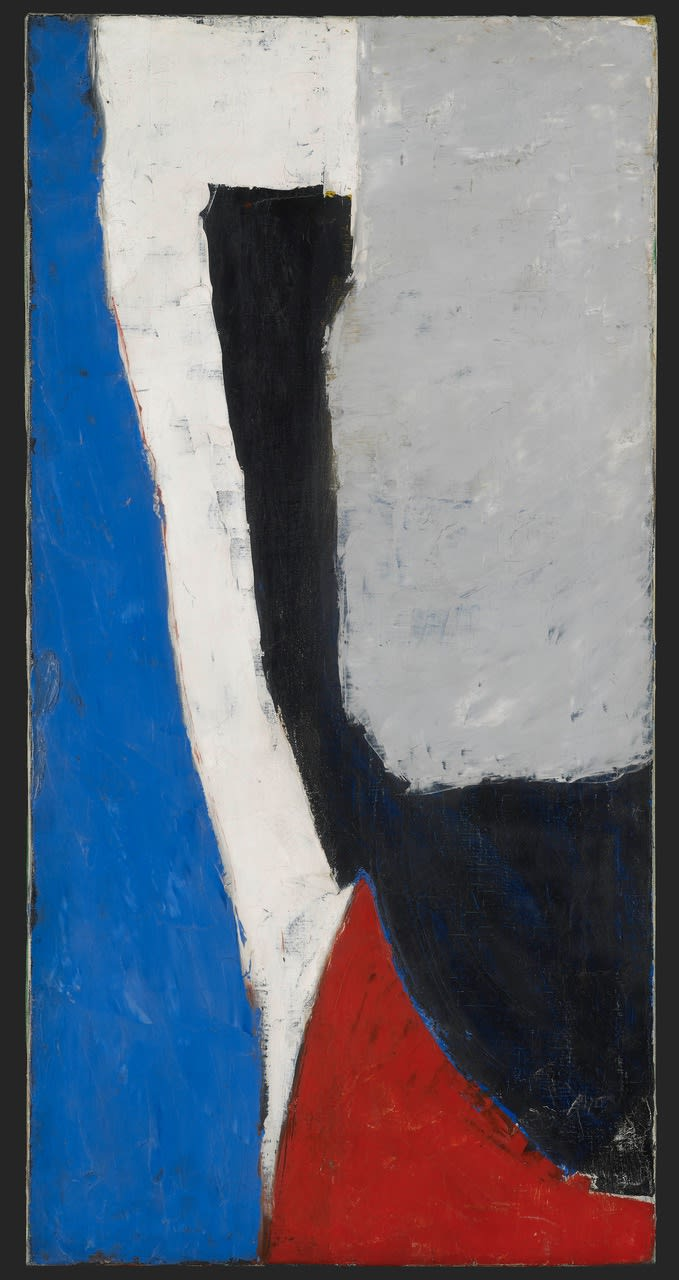 Roger HILTON (1911-1975) September, 1953 Oil on canvas 30 x 15 inches / 76 x 38cm Signed and dated verso