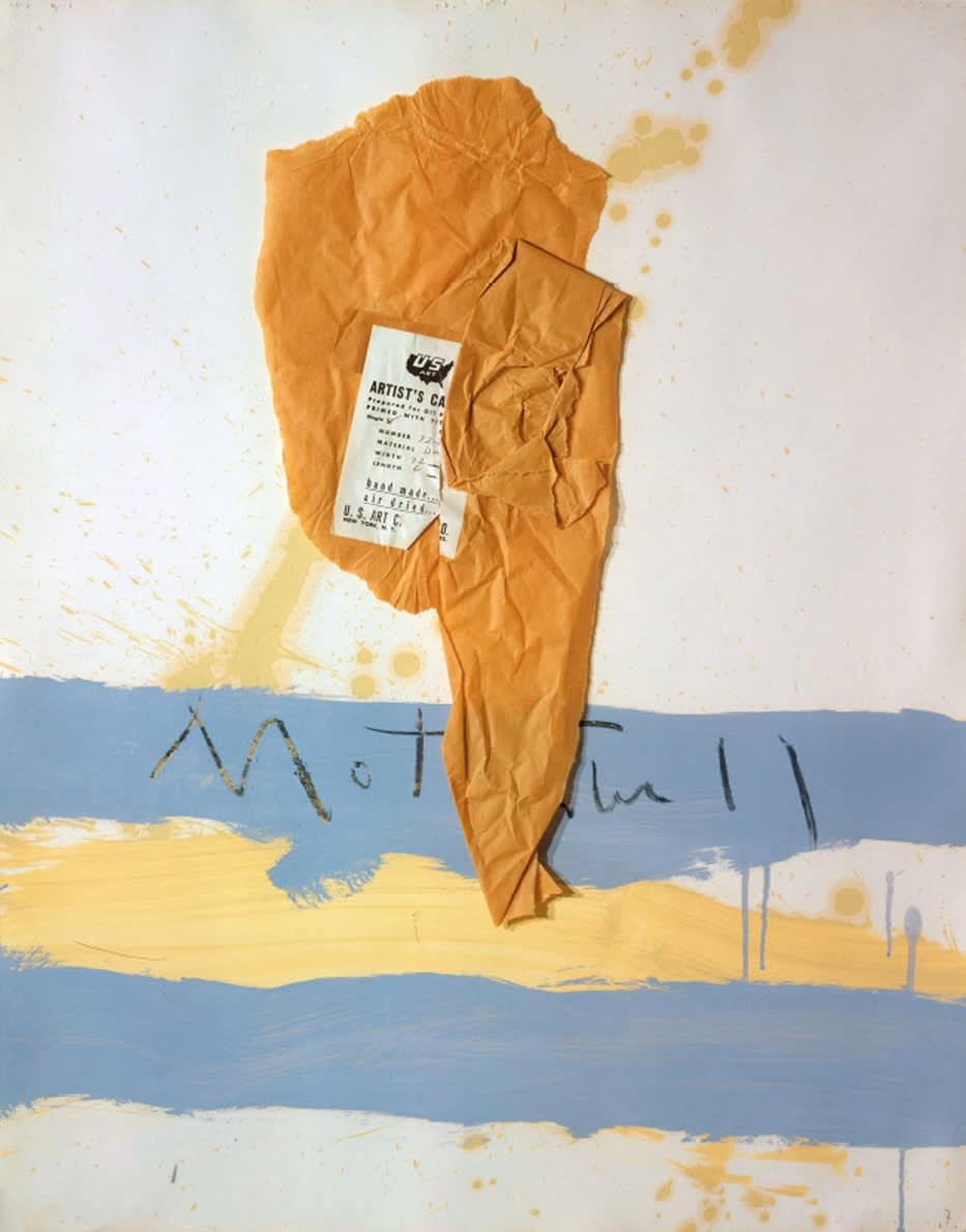 Robert MOTHERWELL (1915-1991) U.S. Art New York N.Y., 1962 Oil and pasted paper on paper 29 x 23 inches / 73.7 x 58.4 cm RM12667, C132