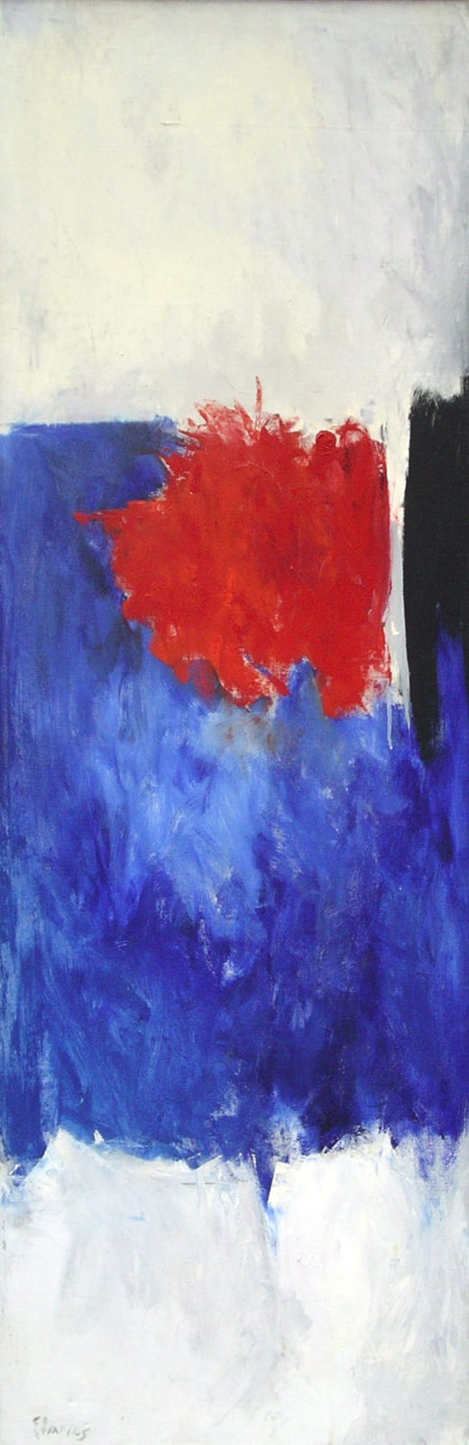 Theodoros STAMOS (1922-1997) Low Sun, 1961 Oil on canvas 65 x 22 inches / 165.1 x 55.9 cm Signed and dated lower left