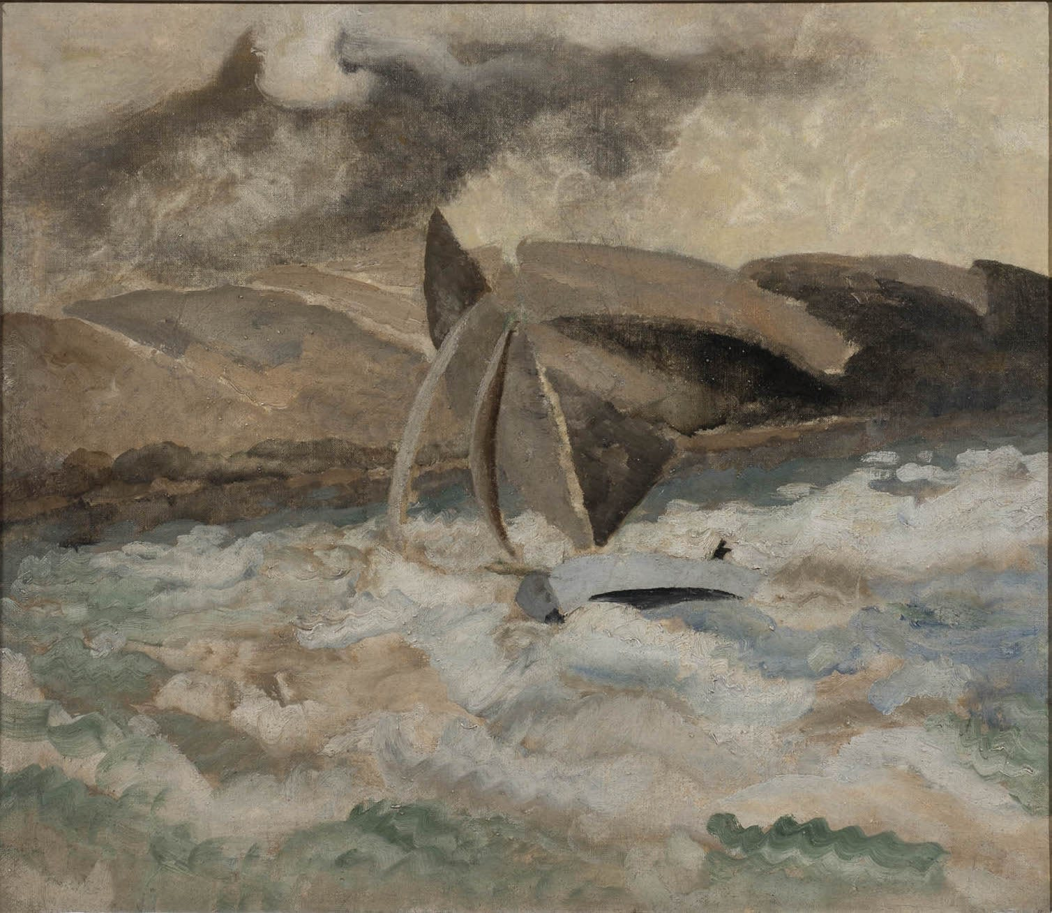 Winifred NICHOLSON (1893-1981) St. Feock (St. Ives Harbour verso), c.1928 Oil on canvas 23 x 28 ¾ inches / 58 ½ x 73 cm