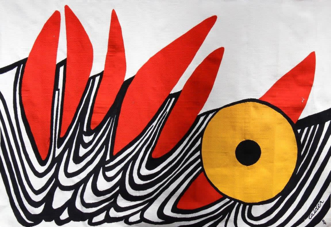 Alexander CALDER (1898-1976) Six Dents Rouges, c.1970