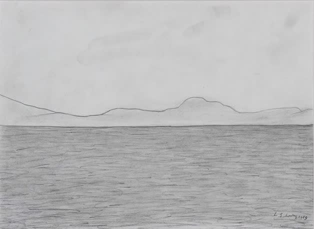 L S LOWRY (1887 – 1976) Hills and Sea, 1939