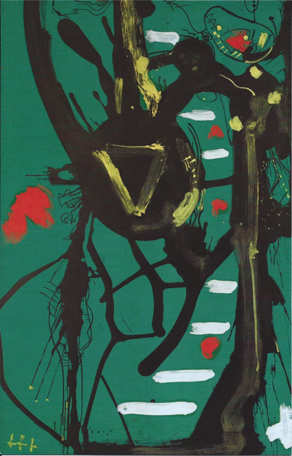 Hans HOFMANN (1880 – 1966) Black Form, 1946 Oil on board 44 x 28 ¼ inches / 111.7 x 71.7 cm Initialed lower left HH Catalogue No. 496-1946
