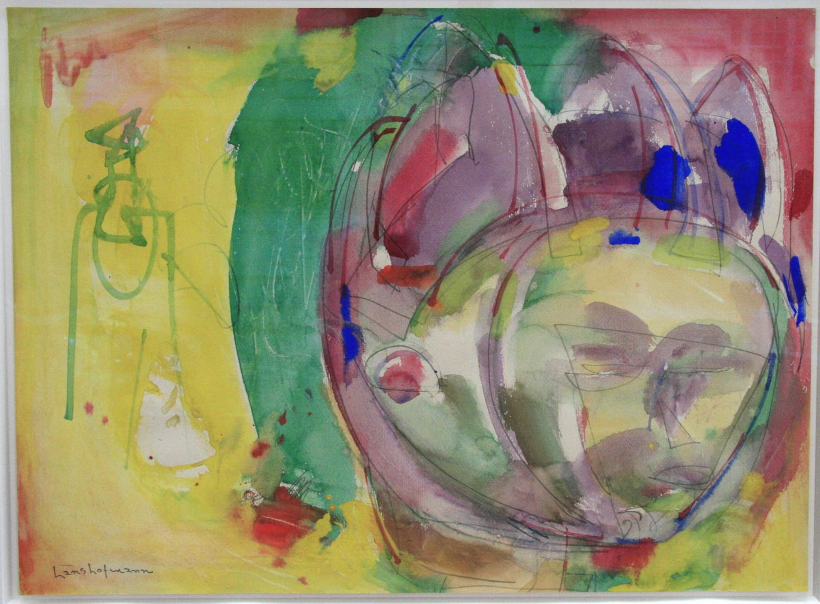 Hans HOFMANN (1880-1966) Untitled, 1943 Pencil and watercolour on paper 17 ¾ x 24 inches / 45 x 61 cm Signed with estate stamp, lower left