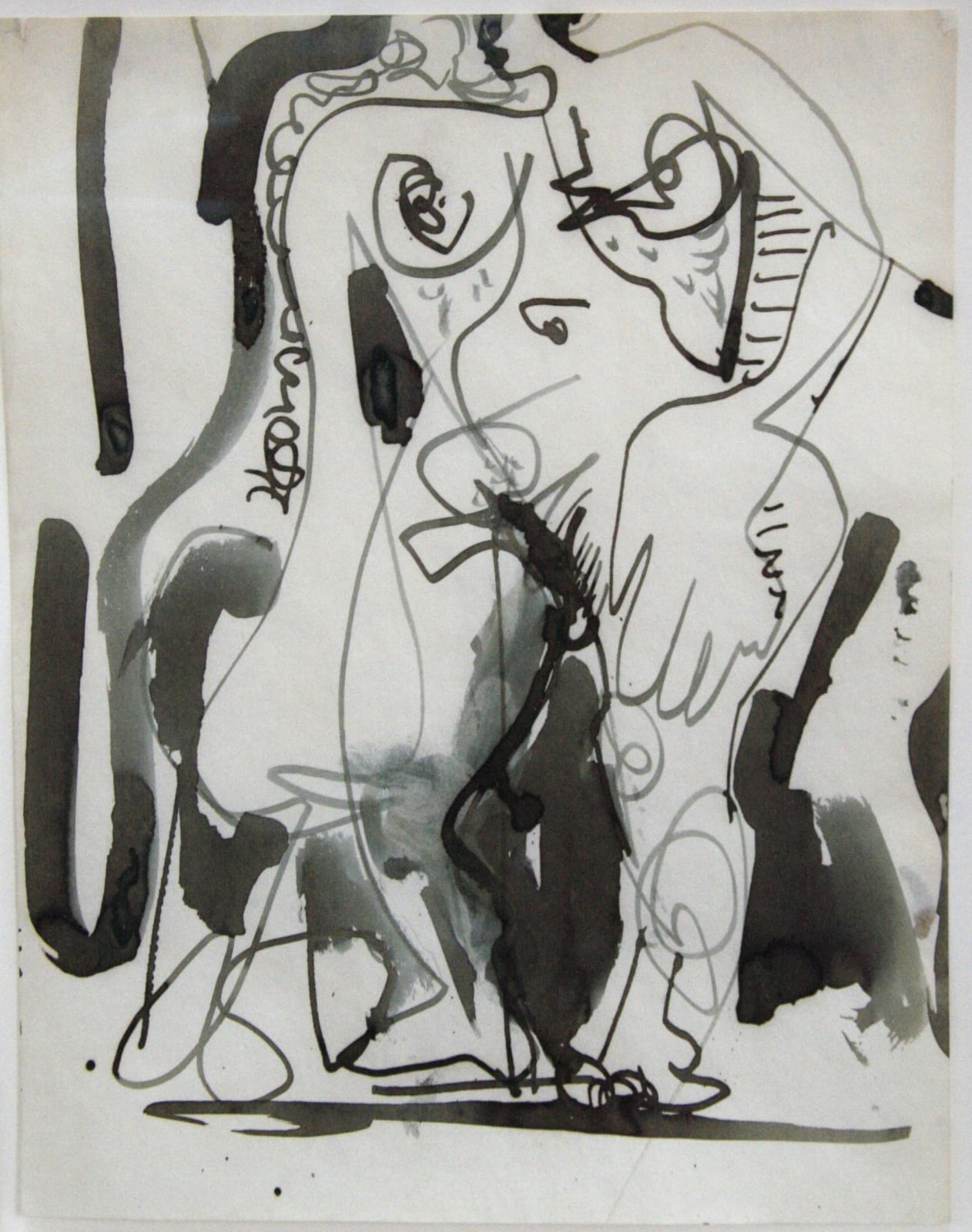 Hans HOFMANN (1880-1966) Untitled, c. 1935 India ink on paper 8 ½ x 11 inches / 21.6 x 27.9 cm HH No – M-0933/856