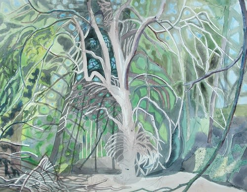 Edward BAWDEN, CBE, RA (1903 -1989) Ringwood, Audley End, Essex, 1976 Watercolour on paper 19 ½ x 25 ¼ inches / 49.5 x 64 cm Signed and dated lower right