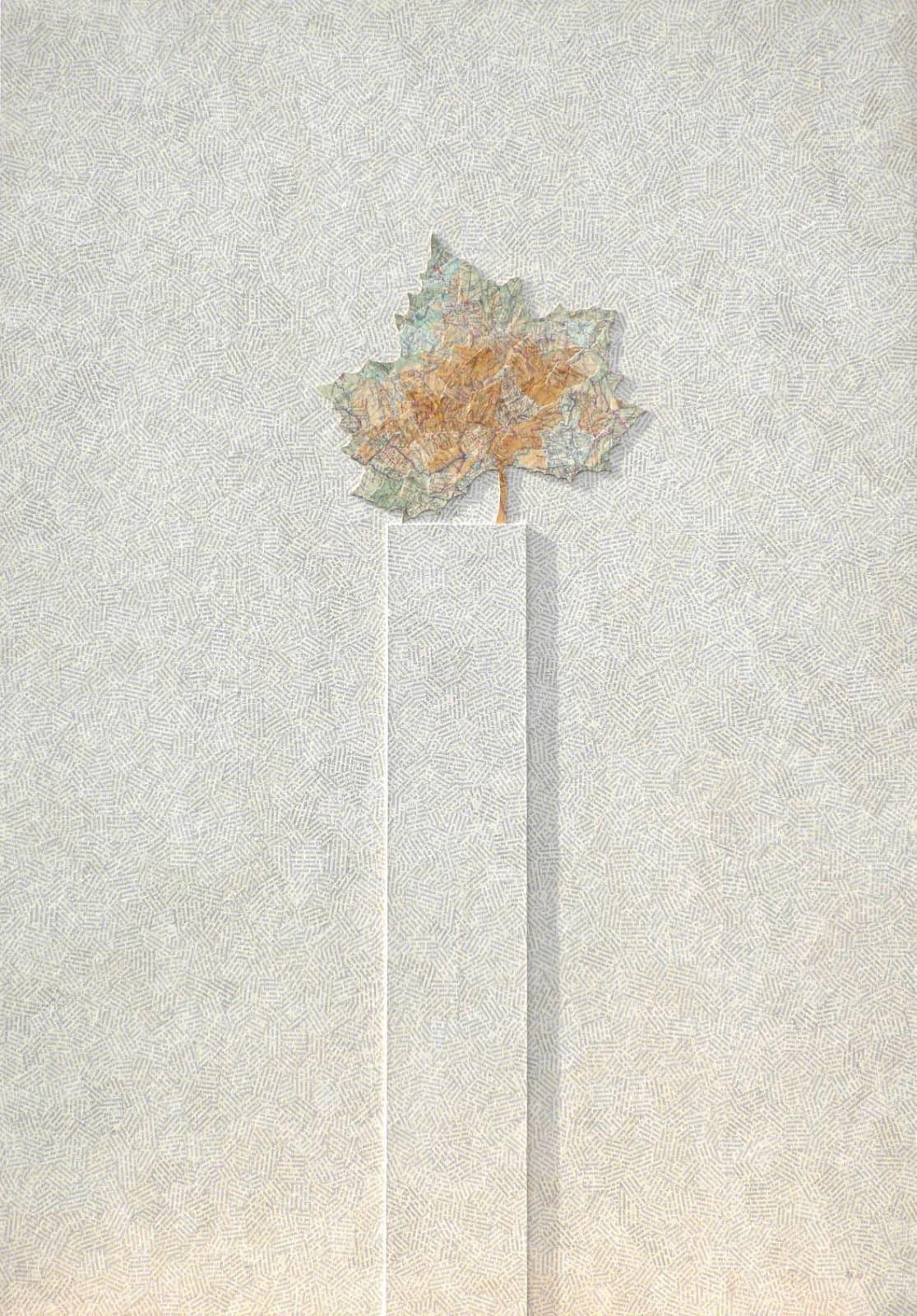 Jiri KOLAR (1914 -2002) Aux arbres parisiens égarés ou Au printemps le bois se vêt de vert III, 1980 Collage on wood 39 3⁄8 x 27 ½ inches / 100 x 70 cm