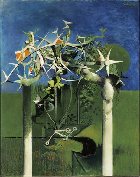 Graham SUTHERLAND, OM (1903 - 1980) Thorn Trees, 1945 Oil on canvas 50 x 40 inches / 127 x 101.5 cm Signed upper right