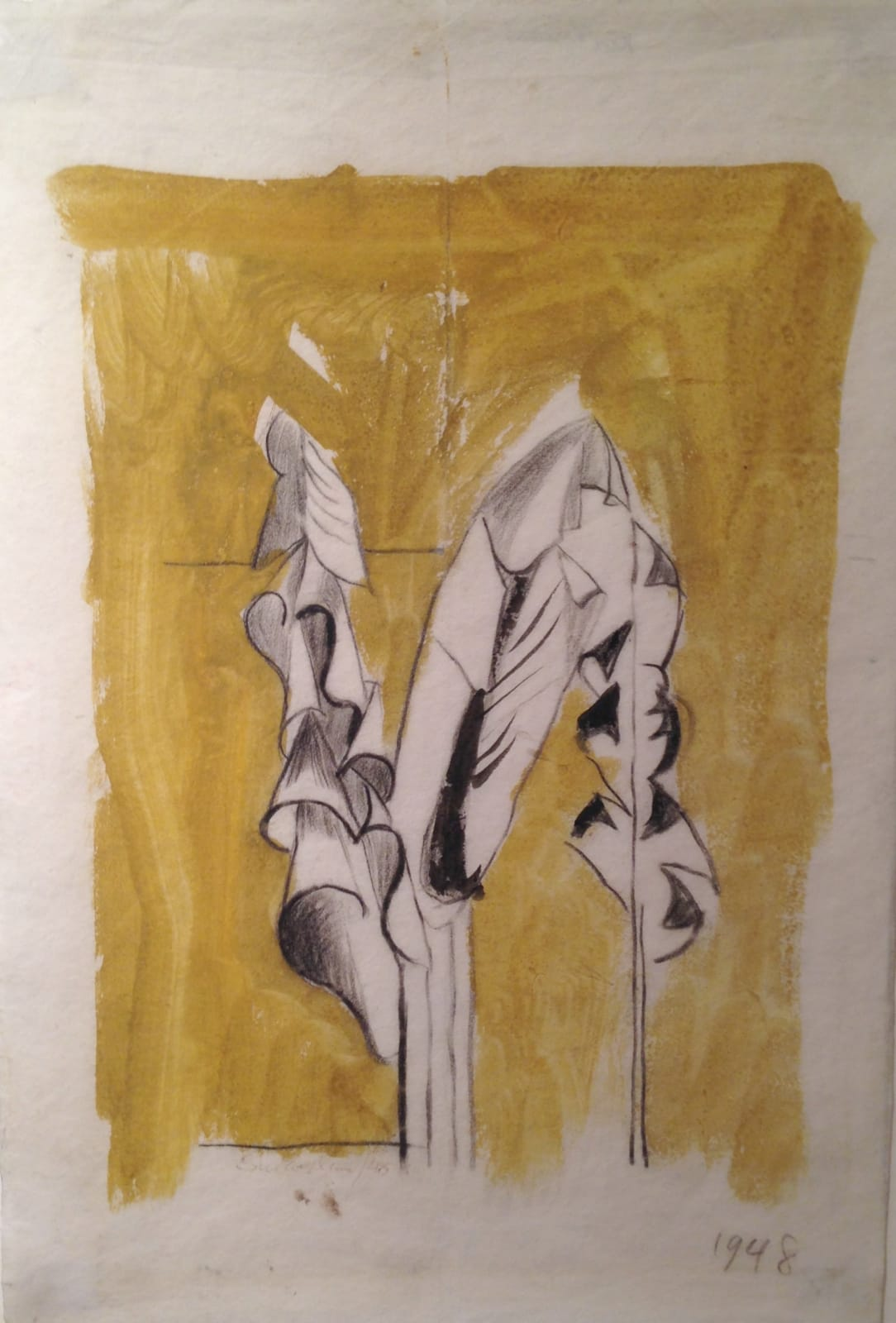 Graham SUTHERLAND (1903 – 1980) Banana Leaves, 1948 Watercolour and pencil 11 x 7 ½ inches / 27.9 x 19 cm