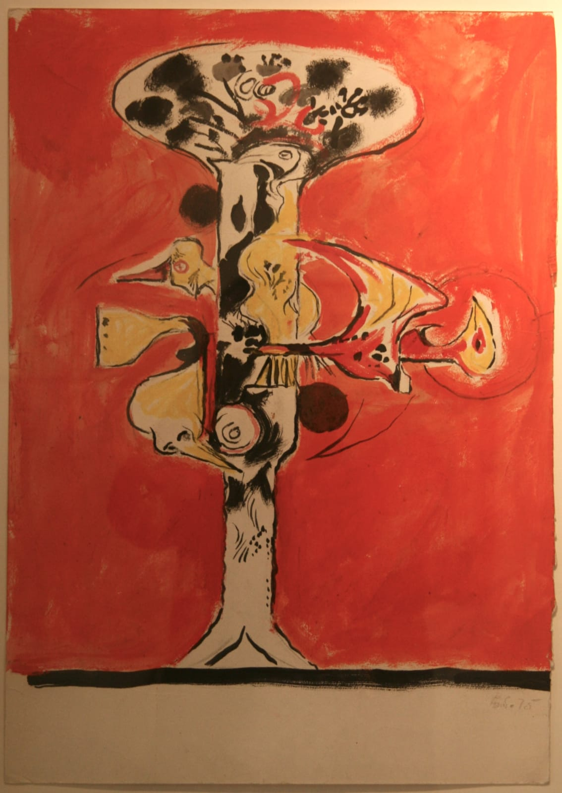 Graham SUTHERLAND (1903 – 1980) Composition, 1975 Pen, ink and gouache on paper 23 x 16 inches / 58.4 x 40.6 cm