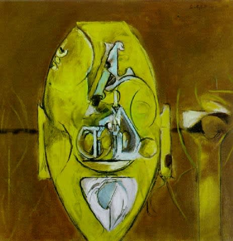 Graham SUTHERLAND (1903 – 1980) Stone Monmouth, 1977 Oil on canvas 19 ¾ x 19 ¾ inches / 50.2 x 50.2 cm