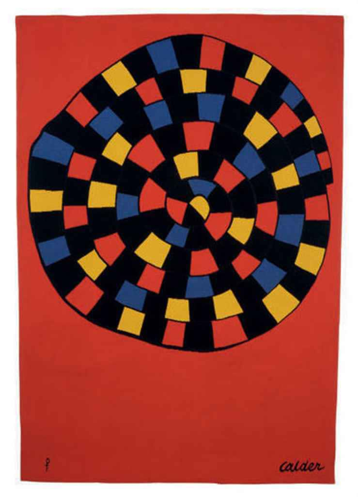 Alexander CALDER (1898 – 1976) Serpent au Vitral, c.1970 Tapestry made for the artist by Pinton Aubusson in an edition of 6 plus 2 artists proofs 79 x 54 ½ inches / 200.7 x 138.4 cm Signed and stamped