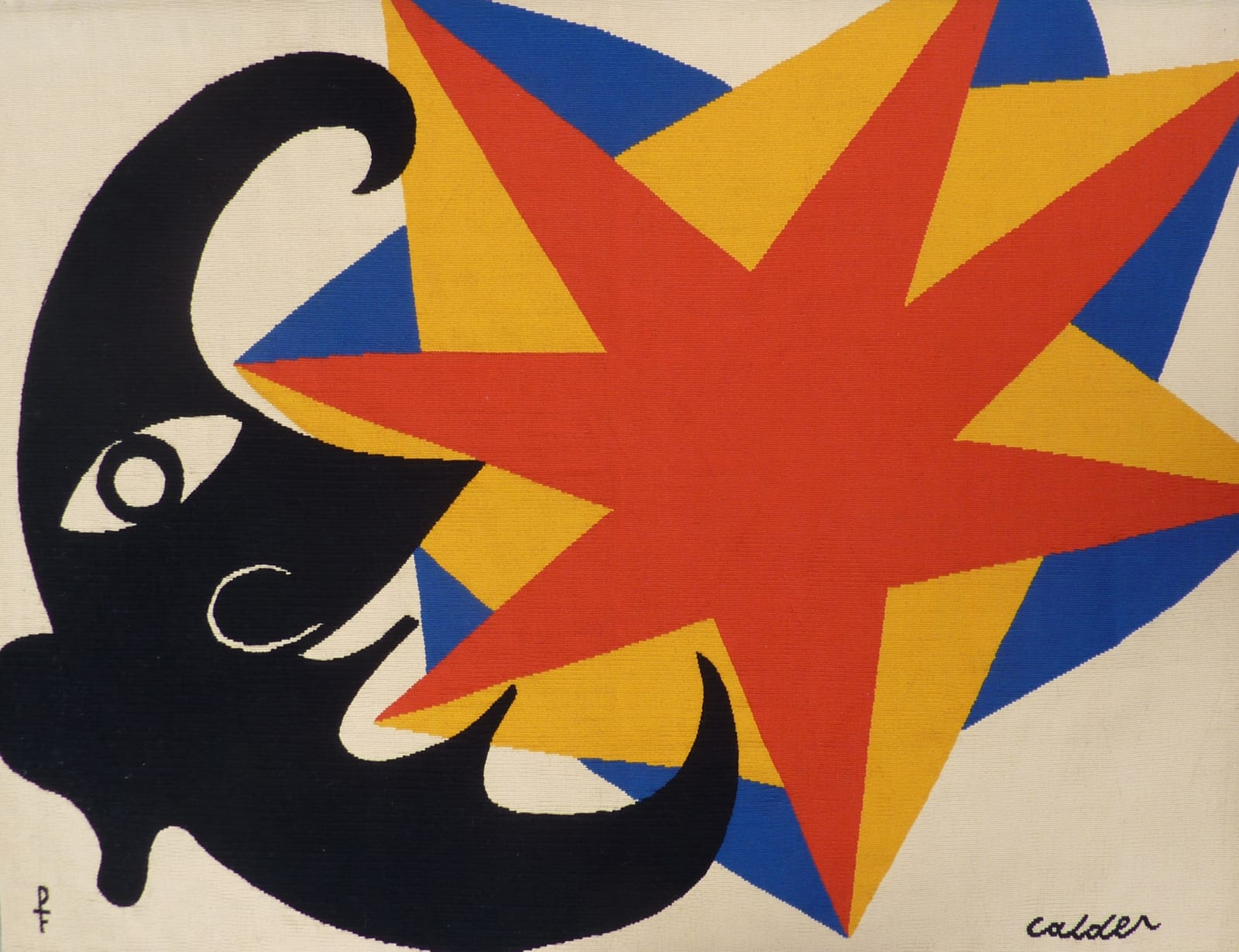 Alexander CALDER (1898 – 1976) Le Profil qui Disparait, c.1970 Tapestry made for the artist by Pinton Aubusson in an edition of 6 plus 2 artists proofs 57 1/8 x 43 3/8 inches / 145 x 110 cm Artists Proof