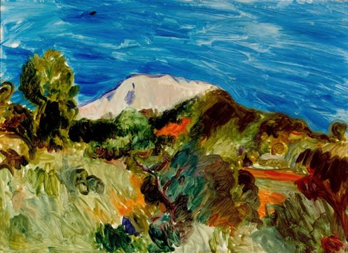 Montagne St. Victoire, 1923 oil on canvas 22 x 30 inches (56 x 66cm) inscr MS b.r.; verso 'Ai/32'