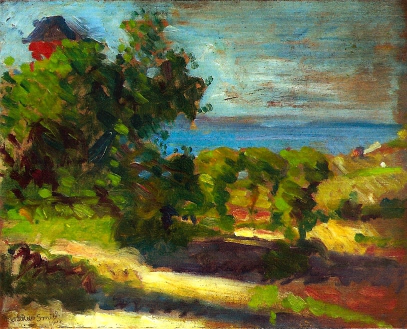 Landscape (I), 1911 oil on board 8.5 x 10.5 inches (21.5 x 26.7cm)
