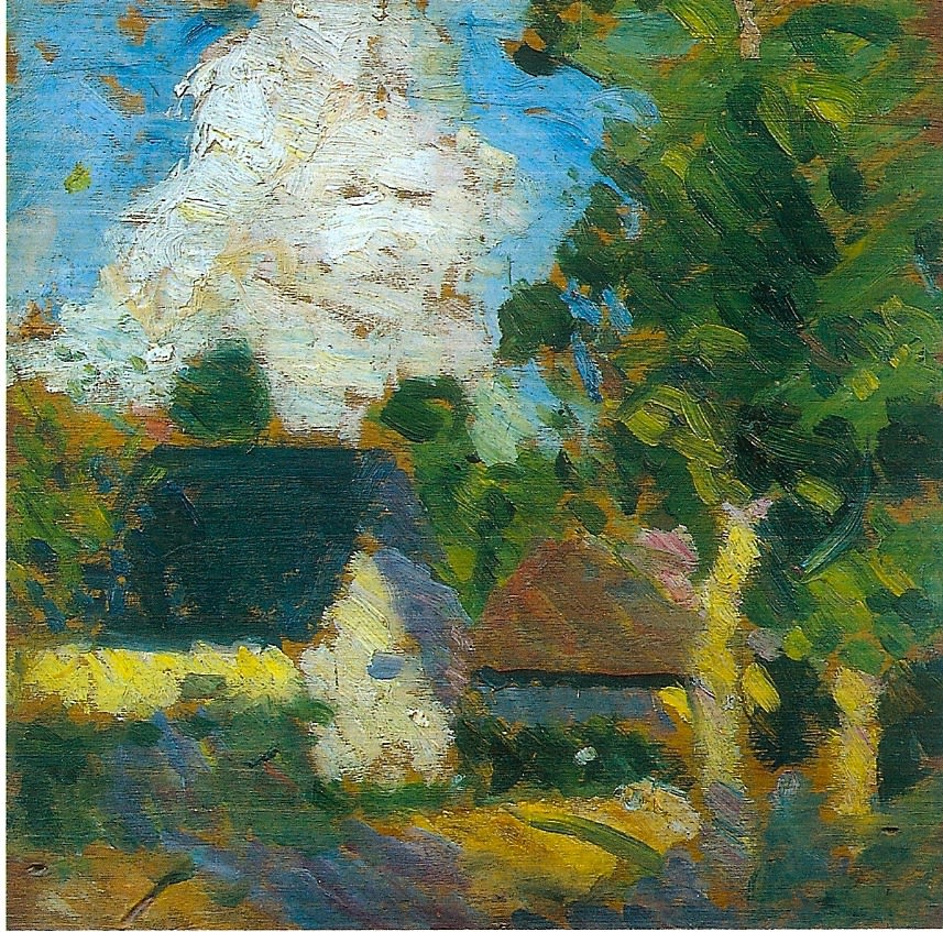 Landscape (II), 1911 oil on board 10 x 10.5 inches (25.4 x 26.7cm)