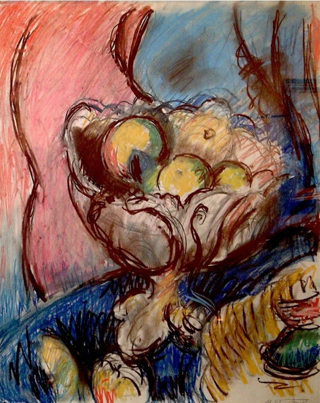 Still Life oil pastel and chalk on paper 23 x 18.5 inches (58.4 x 47cm)