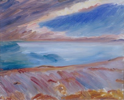 Storm in the Mediterranean, c.1922 oil on canvas 18 x 21 inches inscr. MS bottom left