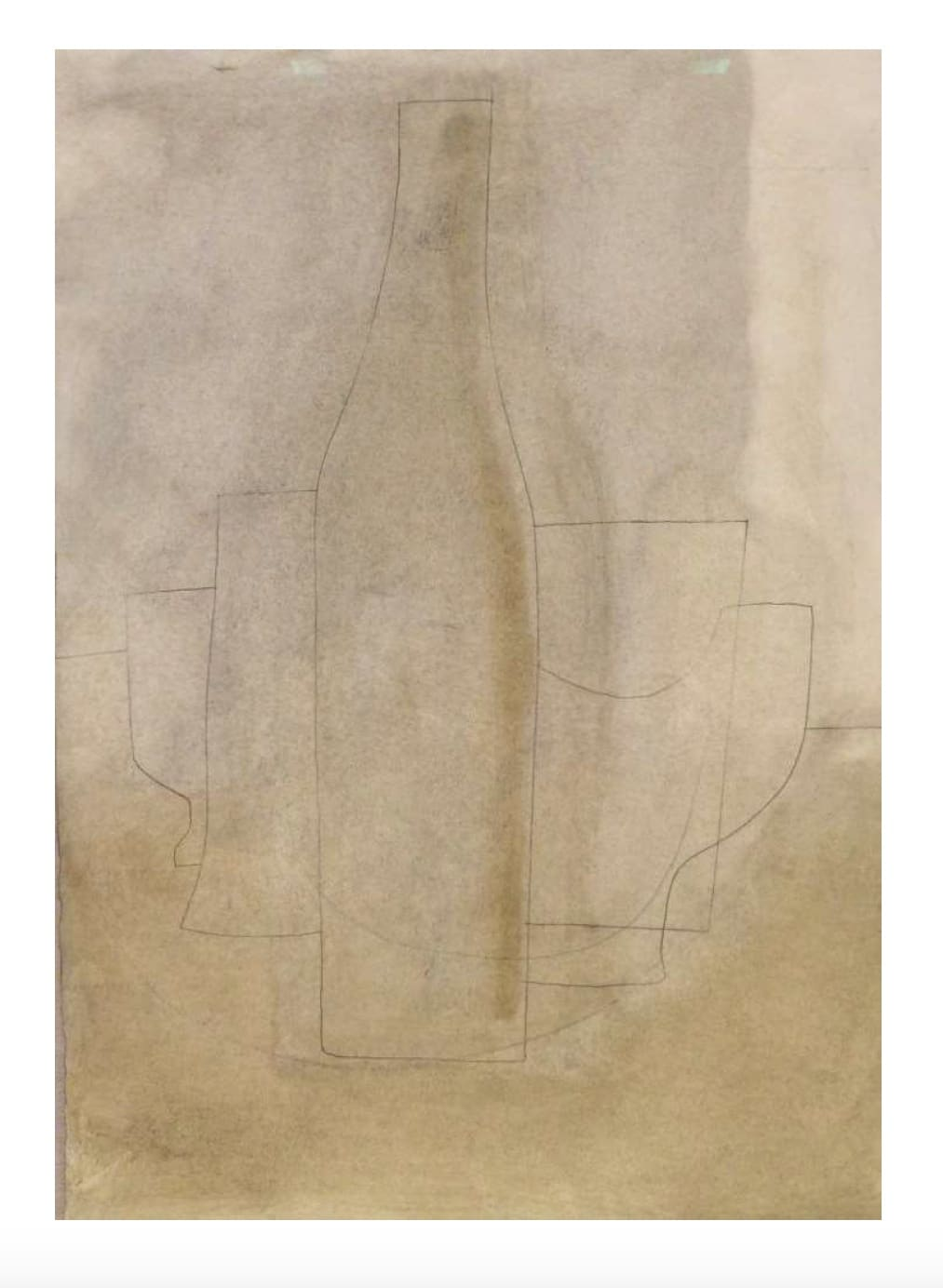 Ben Nicholson, 1972 (Still life with bottle), 1972