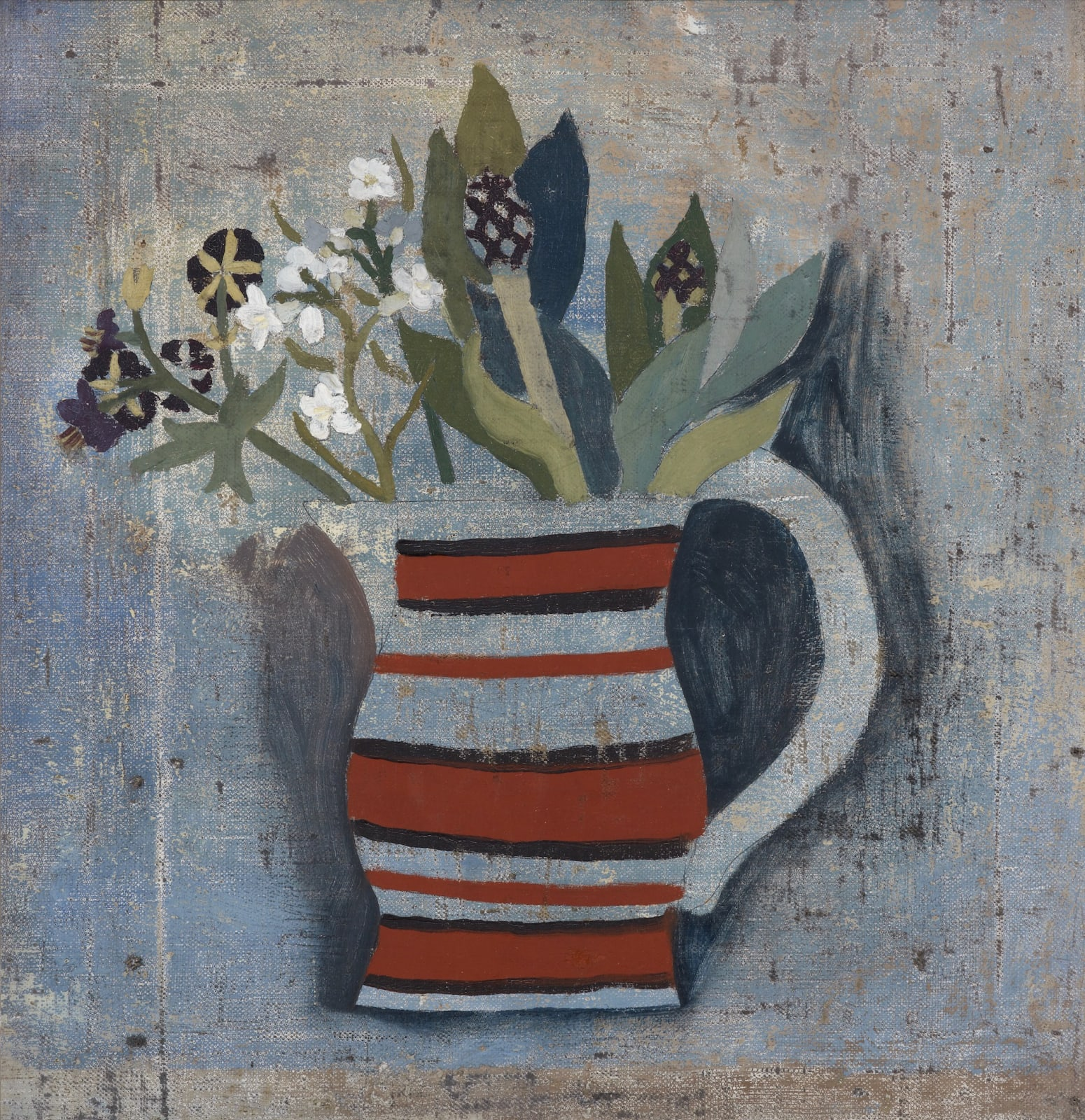 Ben Nicholson, 1928 (Striped Jug and Flowers), 1928