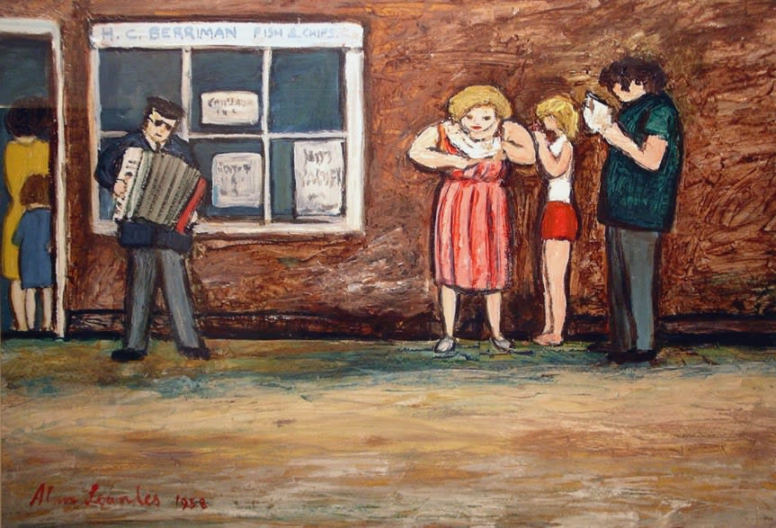 Alan Lowndes, The Accordion Player, 1958