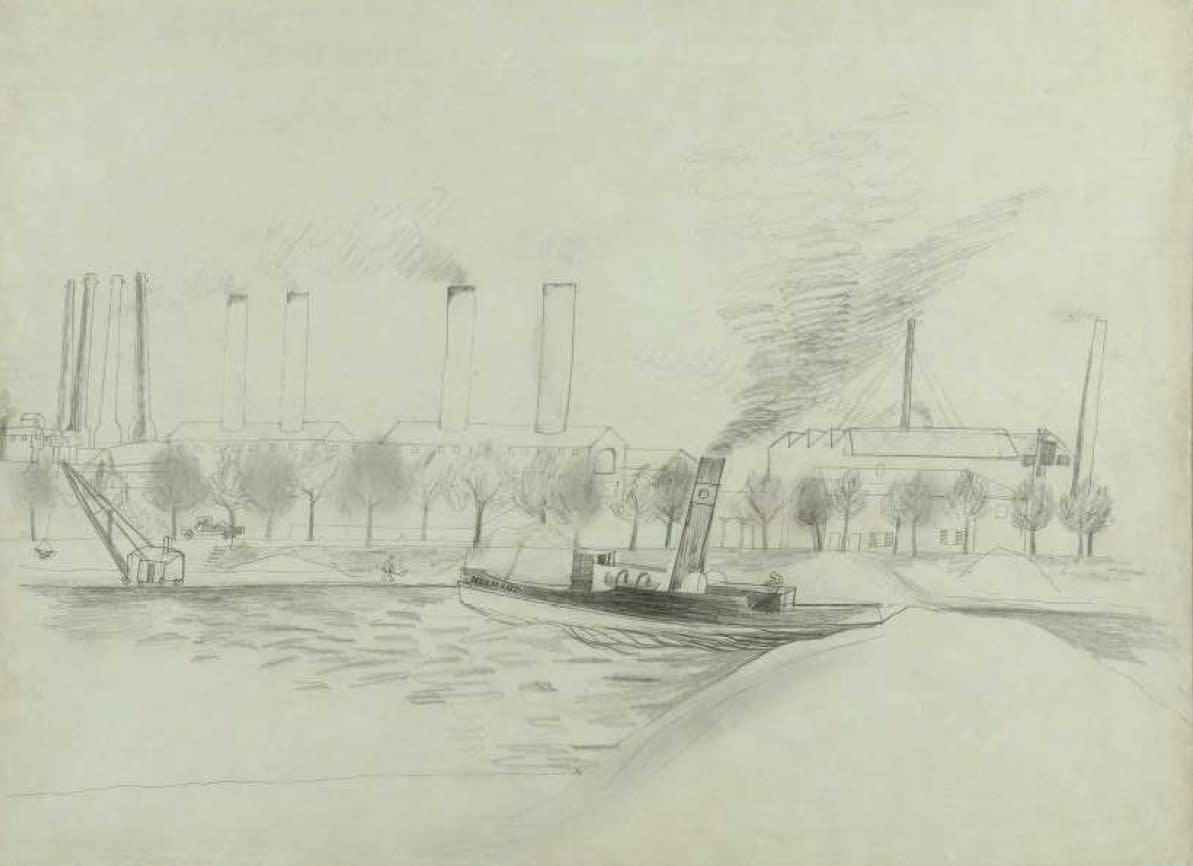 Ben Nicholson, The Steamer Normand on the Seine, c.1932