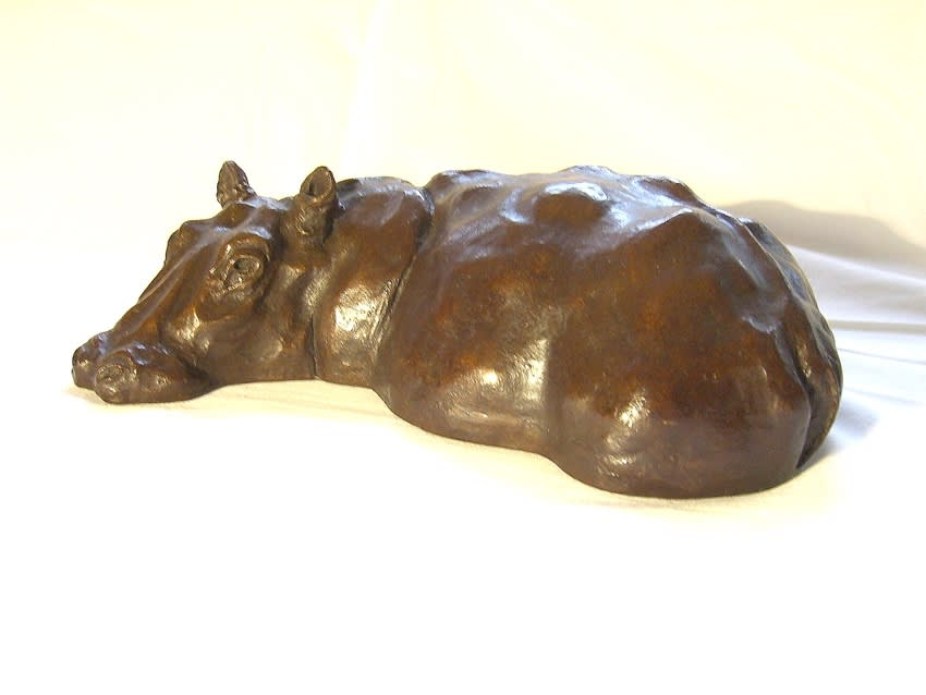 Luangwa Hippo, Resin Bronze Price: £750. Awaiting Bronze Price
