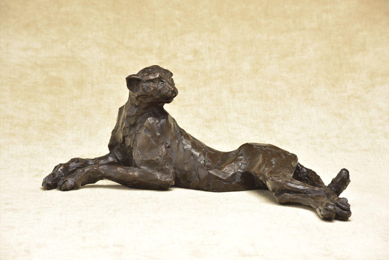 Tarangire Cheetah, Resin Bronze, £775. Awaiting the Bronze Price