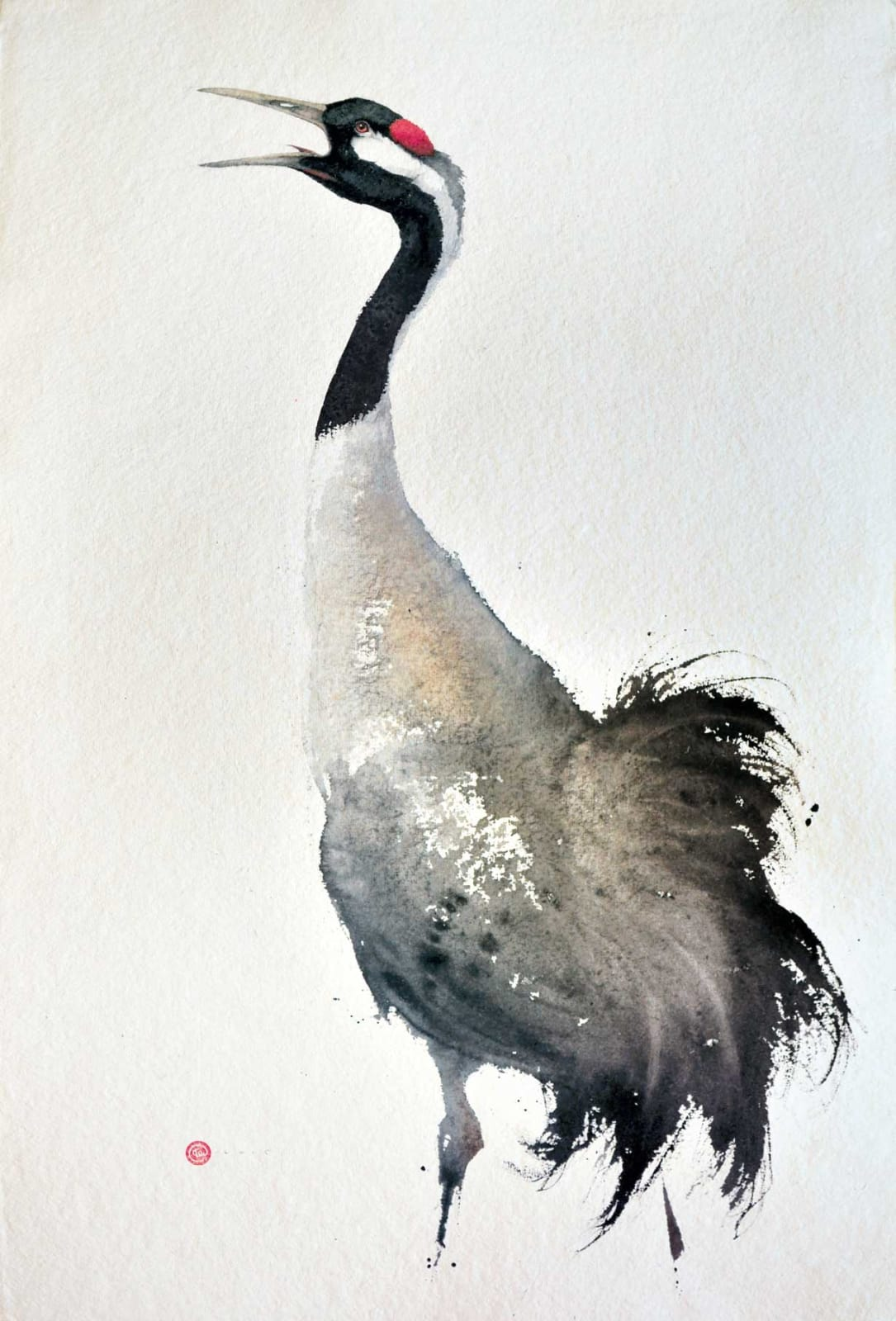 Crane Watercolour 38
