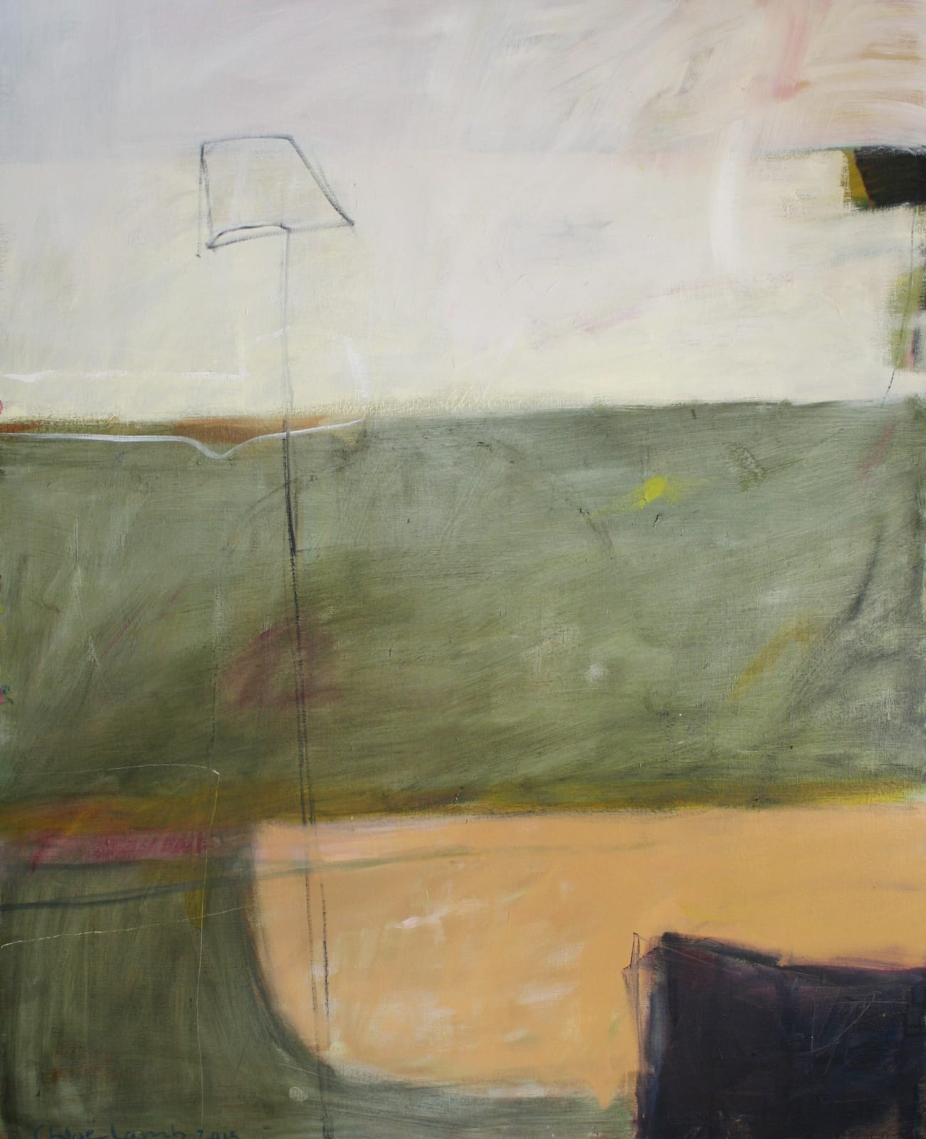 Chloe Lamb Amble September 2015 Signed Oil on canvas 59 7/8 x 48 1/8 in 152.1 x 122.2 cms