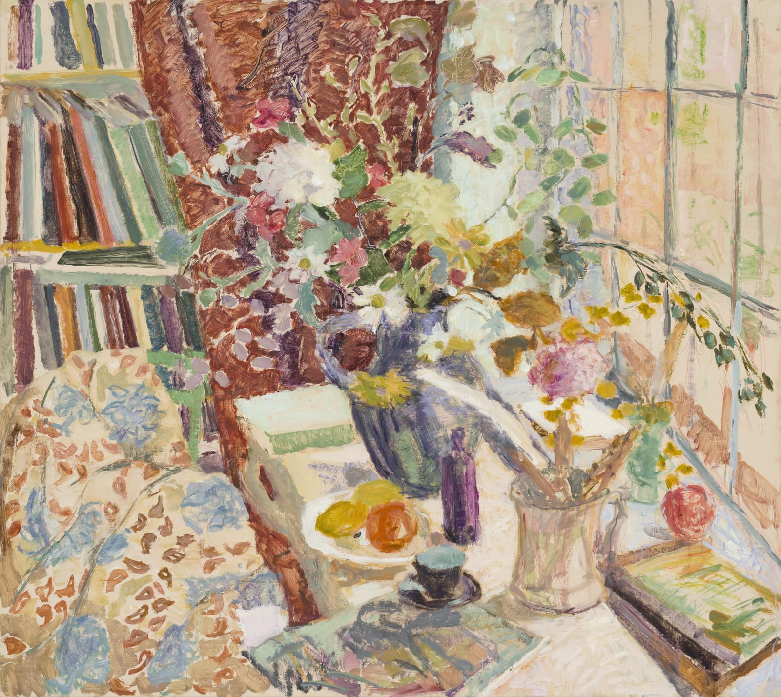 Hugo Grenville The Big Window, Autumn Signed Oil on canvas 48 x 54 in 121.9 x 137.2 cms