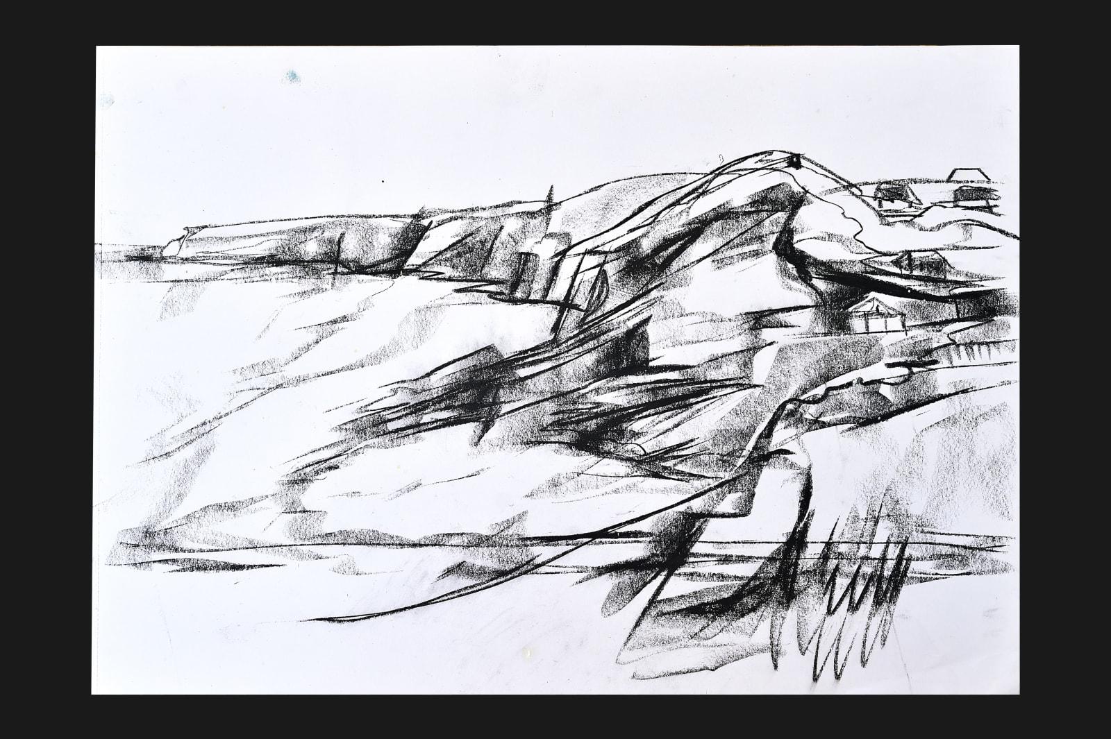 Emma Haggas, Drawing of Trebarwith Strand