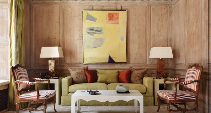 Frank Phelan abstract work as featured in Homes & Interiors Scotland