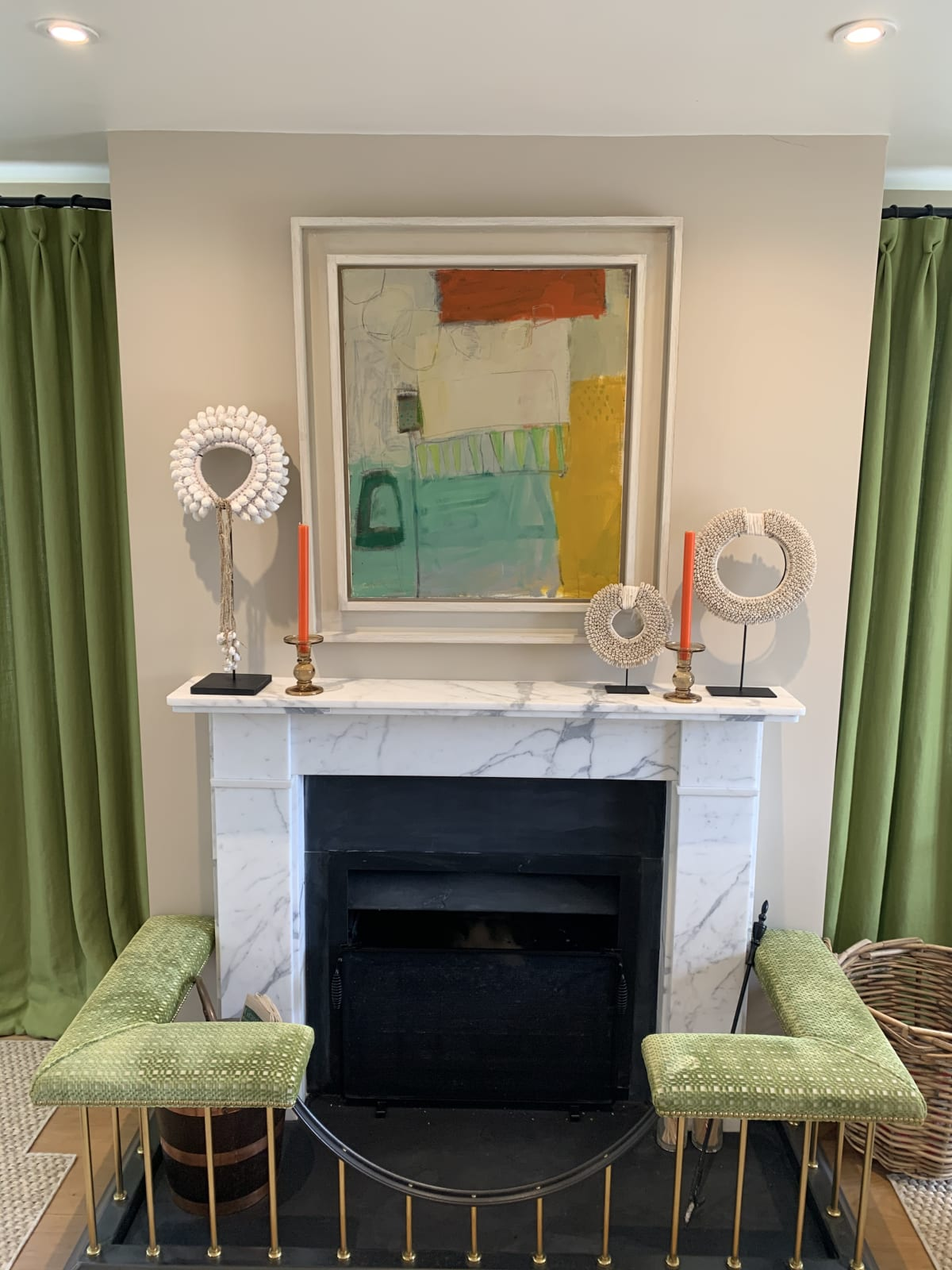 An abstract Chloe Lamb in a clients home in Oxfordshire