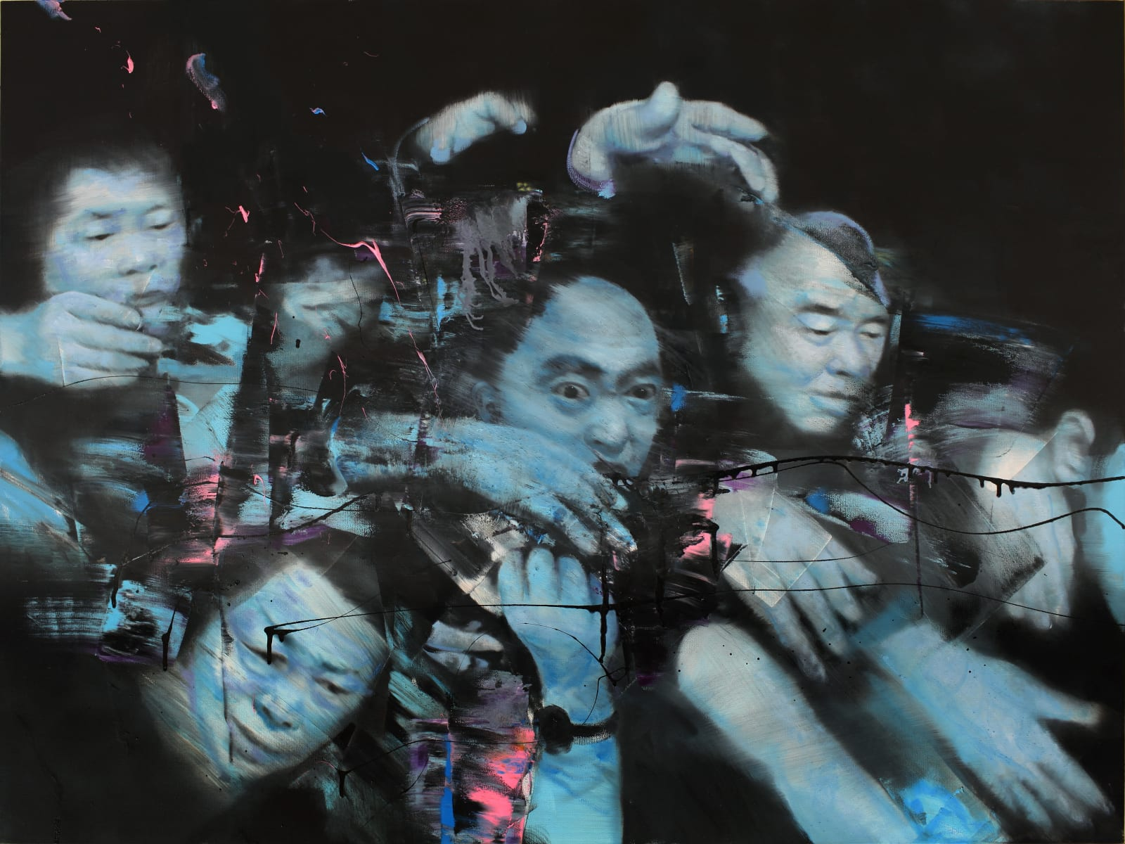 TianBing Li, Blue Looting , 2018