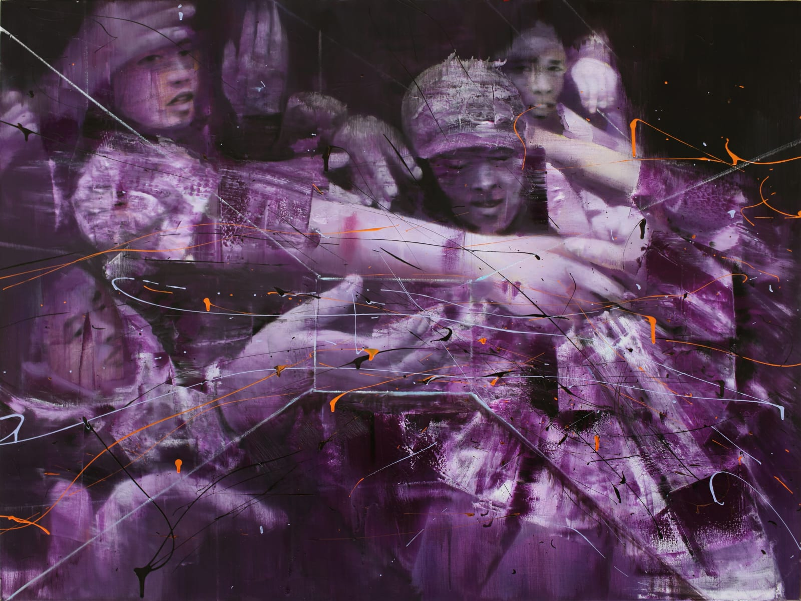 TianBing Li, Purple Looting , 2018
