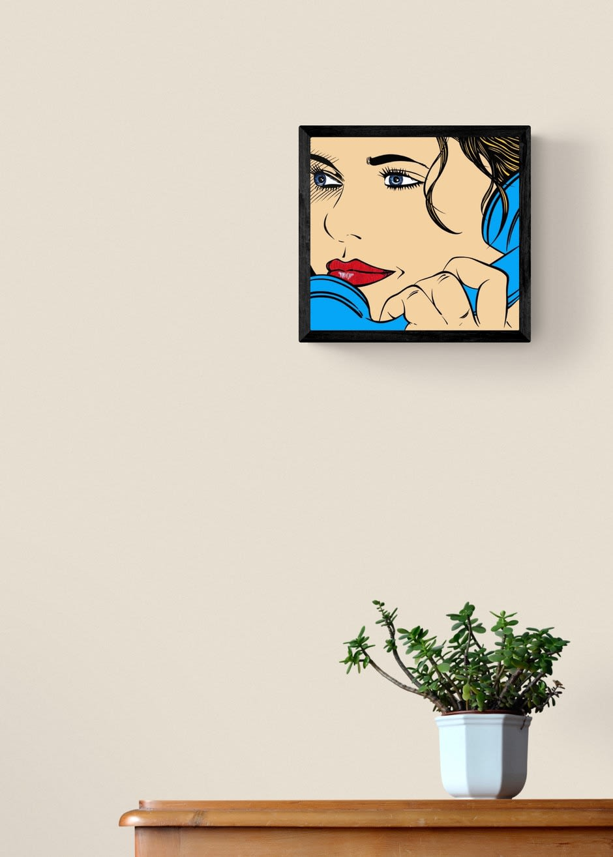 DEBORAH AZZOPARDI I Just Called To Say..., 2020 Acrylic on 300g Paper Framed 53.3 x 55.9 cm 21 x 22 in. (DA156)