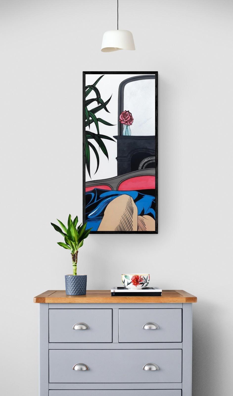 DEBORAH AZZOPARDI Contemplation, 2020 Acrylic on 640g Paper 108 x 48.3 cm 42 1/2 x 19 in. (DA157)
