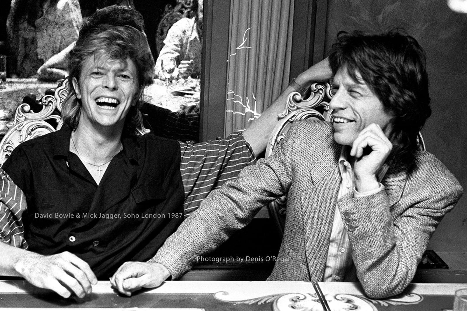 DAVID BOWIE, David Bowie & Mick Jagger London, 1987