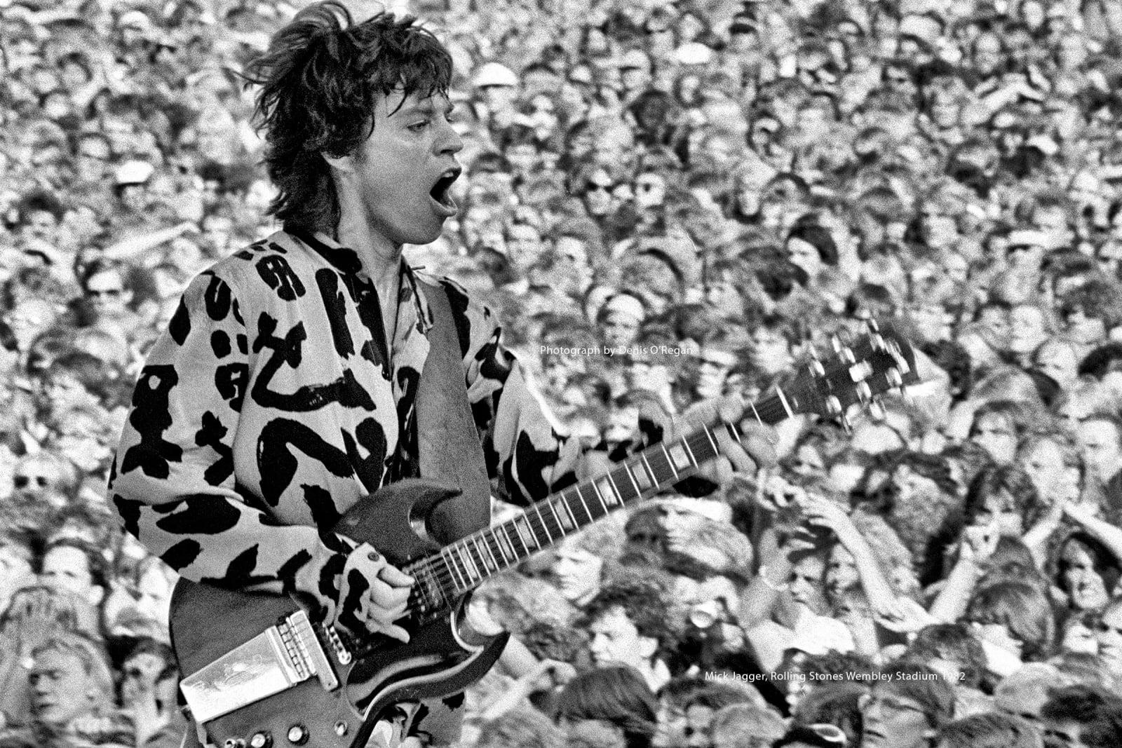 ROLLING STONES, Mick Jagger Wembley Stadium, 1982