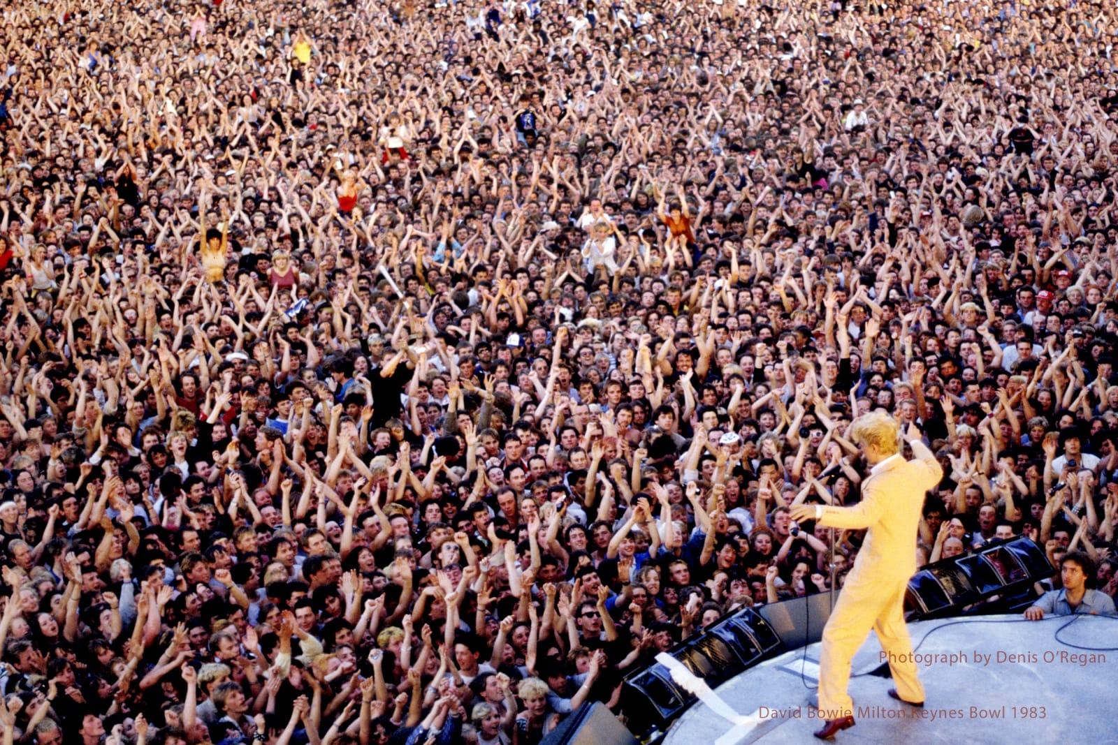 DAVID BOWIE, David Bowie Milton Keynes Bowl, 1983
