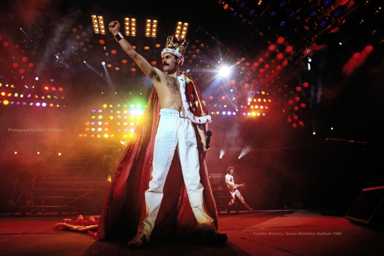 QUEEN, Freddie Wembley Stadium, 1986